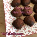 Protein treats, with cocoa and peanut butter